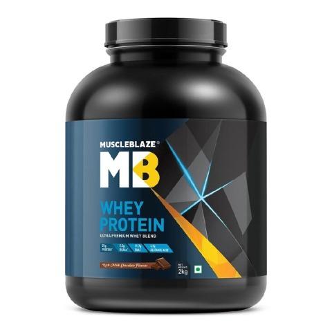 MuscleBlaze Whey Protein (2Kg, Rich Milk Chocolate)