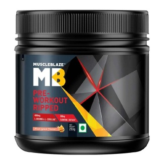 MuscleBlaze Pre Workout Ripped,  0.55 lb  Fruit Splash