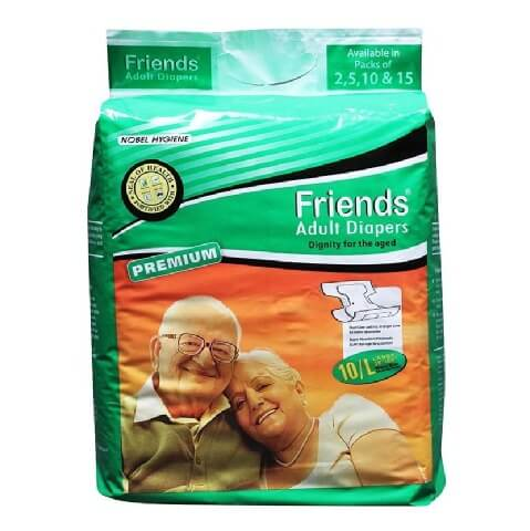 Friends Adult Diapers,  Large  10