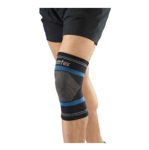 Omtex Superior Elastic Knee Support,  Black  Small