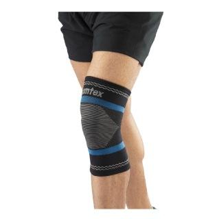 Omtex Superior Elastic Knee Support,  Black  Medium