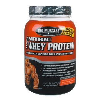 Big Muscles 100% Nitric Whey Protein,  2 lb  Chocolate