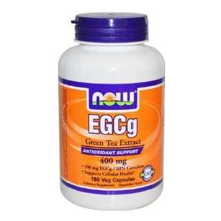 Now EGCg Green Tea Extract (400mg), 180 veggie capsule(s) Unflavoured