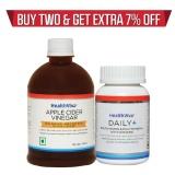 HealthViva Apple Cider Vinegar + HealthViva Daily + (Multivitamin)