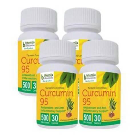 Bhumija Turmeric Curcumin 95 (Pack of 4),  30 capsules
