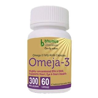Bhumija Omeja 3 Fatty Acid (300 mg),  60 capsules