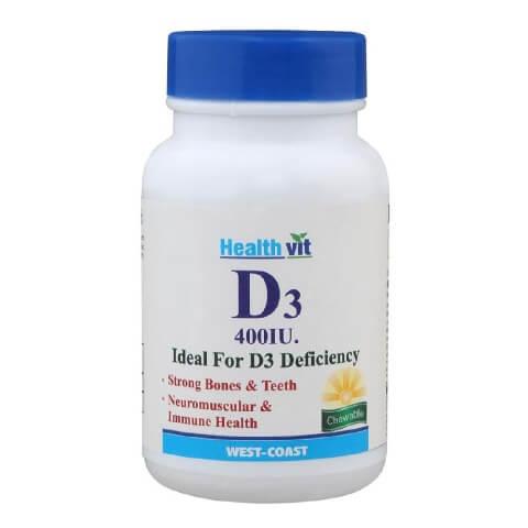 Healthvit VITAMIN D3 400 IU,  30 tablet(s)