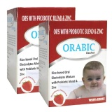 West Coast Orabic ORS With Probiotic & Zinc,  Strawberry (Pack Of 2)  12 Sachets/pack