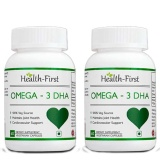 Health First Omega-3 DHA (Pack Of 2),  60 Capsules