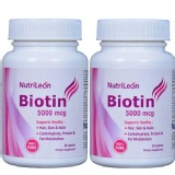 NutriLeon Biotin (Pack Of 2),  Unflavoured  60 Capsules