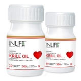 INLIFE Krill Oil Omega 3 (500 Mg) Pack Of 2,  30 Capsules