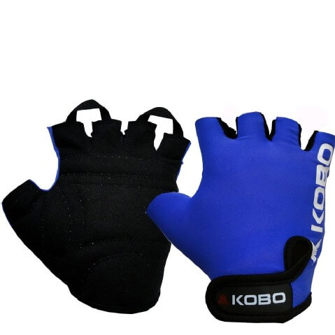 KOBO Weight Lifting Gloves (WTG-05),  Blue  Large