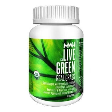 MWH Live Green Real Grass,  60 tablet(s)