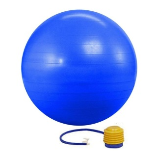 KOBO Anti-Burst Gym Ball With Foot Pump (GB-5-95),  Blue  95 cm