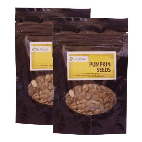 By Nature Pumpkin Seeds (Pack of 2),  Unflavoured  50 g