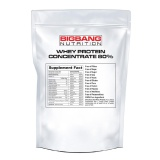 BigBang Nutrition Whey Protein Concentrate 80%,  1 Lb  Unflavoured