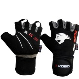 KOBO Weight Lifting Fitness Gym Gloves,  Black & Grey  XL