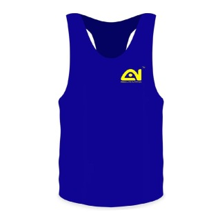 3 - Absolute Nutrition Dry Fit Gym Sando for Men,  Blue  Medium