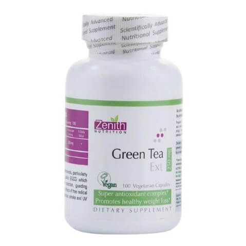 Zenith Nutrition Green Tea Extract (250 mg),  100 capsules  Unflavoured