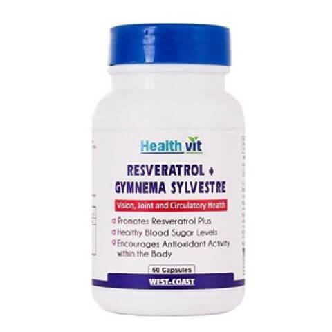 Healthvit Resveratrol + Gymnema Sylvestre,  60 capsules