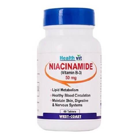 Healthvit Niacinamide (Vitamin B3) 50 mg,  Unflavoured  60 tablet(s)
