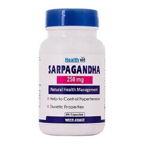 Healthvit Sarpagandha (250 mg),  60 capsules