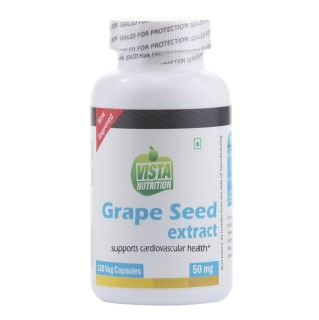Vista Nutrition Grape Seed Extract (50mg),  120 capsules