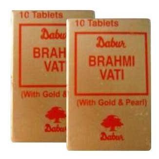 Dabur Brahmi Vati with Gold & Pearl,  10 tablet(s)  - Pack of 2