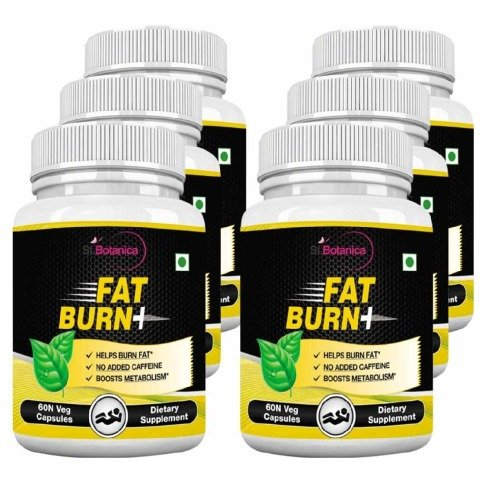 St.Botanica Fat Burn+, 60 capsules Unflavoured - Pack of 6