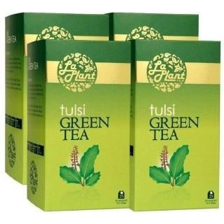 Laplant Tulsi Green Tea, 25 Piece(s)/Pack Tulsi - Pack of 4