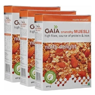 GAIA Muesli Delight,  Nutty  0.400 kg  - Pack of 3