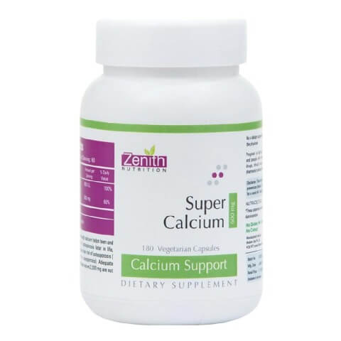 Zenith Nutrition Super Calcium (600mg),  Unflavoured  180 capsules