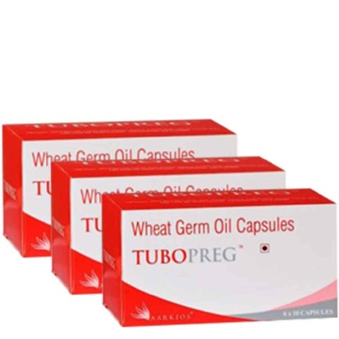 HealthAid Tubopreg Wheat Germ Oil (340 mg),  10 capsules  - Pack of 3
