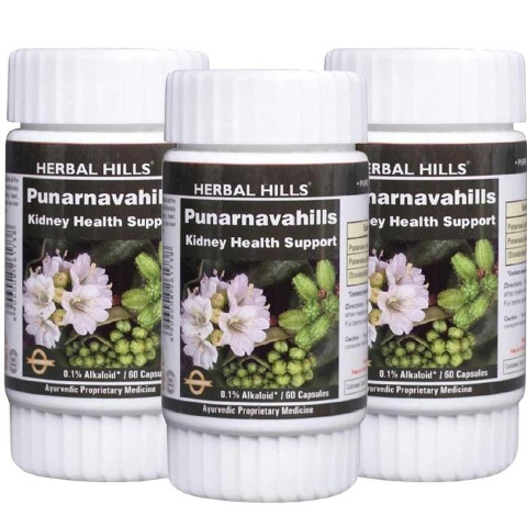 Herbal Hills Punarnavahills,  60 capsules  - Pack of 3