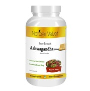 Natures Velvet Ashwagandha Pure Extract (500 mg),  60 capsules