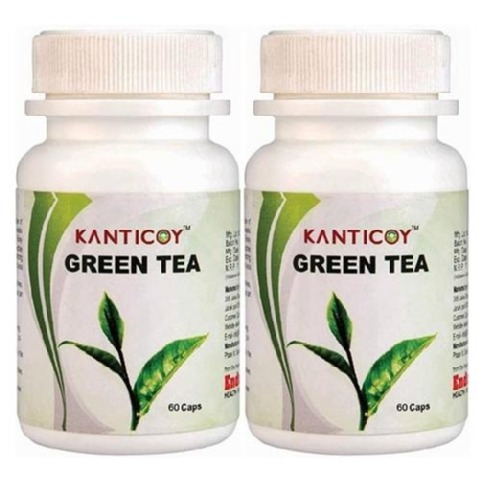 Kanticoy Green Tea - Pack of 2, 60 capsules  Unflavoured
