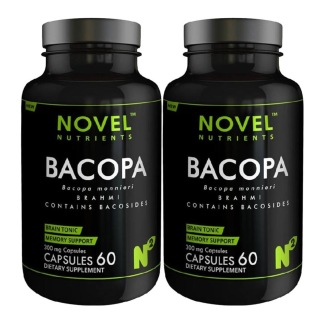 Novel Nutrients Bacopa (300 mg),  60 capsules  - Pack of 2