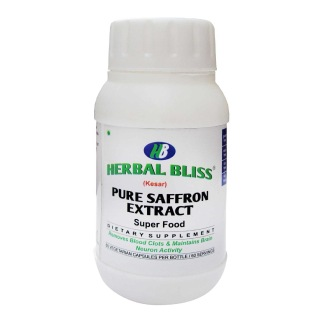 Herbal Bliss Pure Saffron Extract,  60 capsules