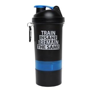 1 - GHC 3-Compartment Shaker Bottle,  Blue & Black  600 ml