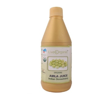 Live Organic Amla Juice,  Natural  0.500 L