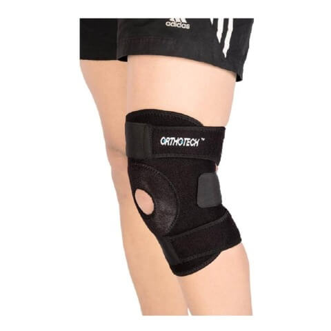 Orthotech Open Patella Knee Support (OR2113),  Black  Medium