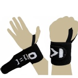 KOBO Gym Straps With Thumb Support (WTA-04),  Black & White  Free Size