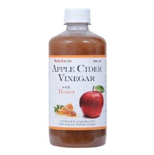 NutriLeon Apple Cider Vinegar with Honey,  0.5 L  Unflavoured