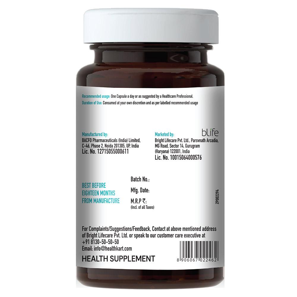 back - HealthKart L Arginine,  60 capsules