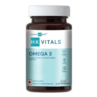 1 - HealthKart Omega 3 1000mg with 180mg EPA and 120mg DHA,  90 softgels