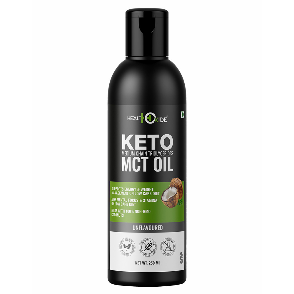 1 - Health Oxide Keto Medium Chain Triglycerides MCT Oil,  250 ml  Unflavoured