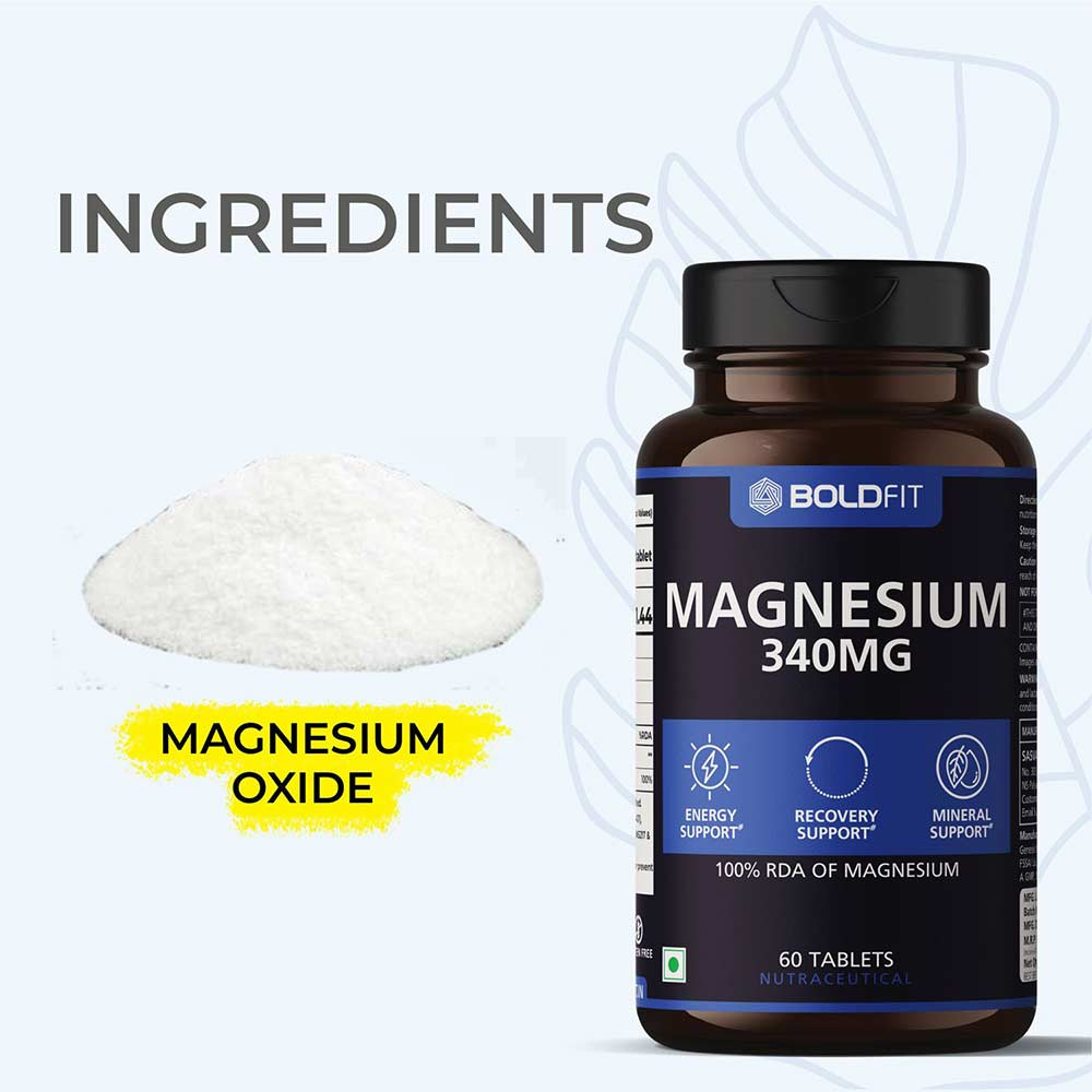 3 - Boldfit Magnesium 340 mg,  Unflavoured  60 tablet(s)