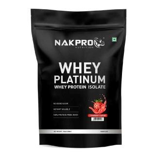 1 - Nakpro Whey Platinum Whey Protein Isolate,  2.2 lb  Strawberry