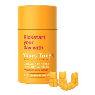 1 - Yours Truly Curcumin Enriched Immunity Gummies Mango Flavour,  30 gummies