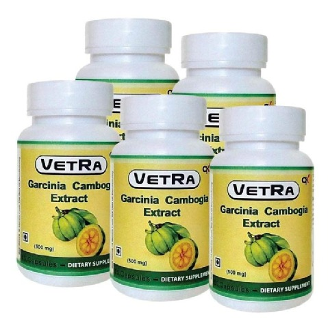 Vetra Garcinia Cambogia Extract (500 mg) - Pack of 5 60 capsules